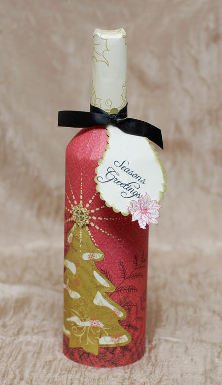 Webster's Wine Bottle Wrap - Keri Lee Sereika WEB