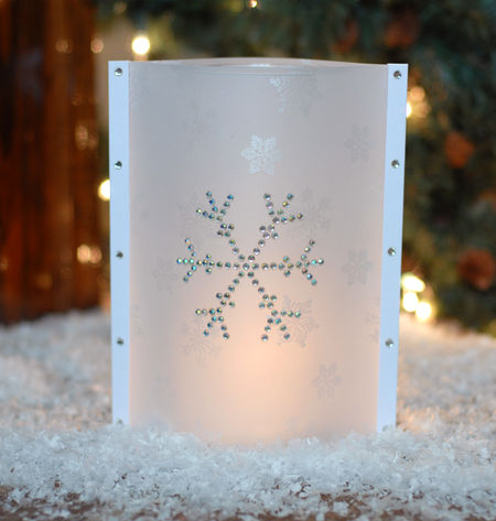 7-28-08 Snowflake Vellum Vase Wrap Lit WEB