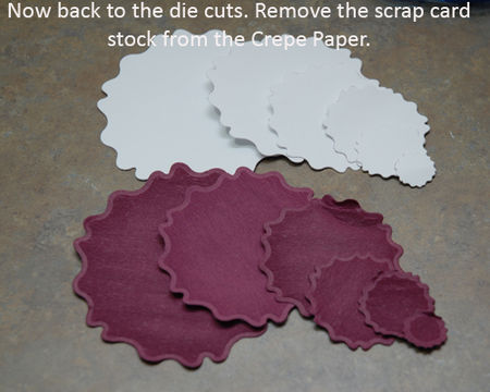 12 Remove scrap cardstock from Crepe layers