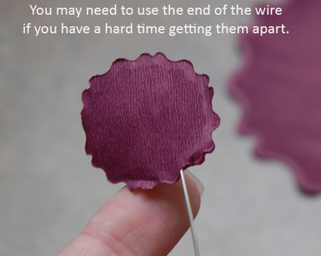 14 You may need to use the wire to help separate the layers