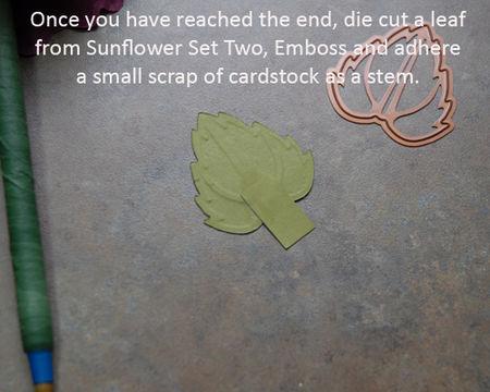 22 Create leaf using cardstock