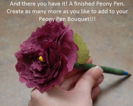 24 Finished Peony Blossom