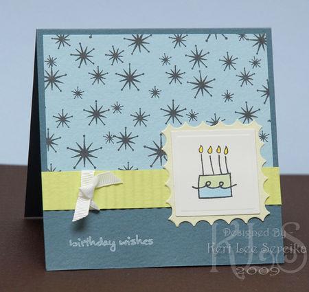 1-14-09 Birthday Wishes - Inverted Scalloped Squares - Keri Lee Sereika