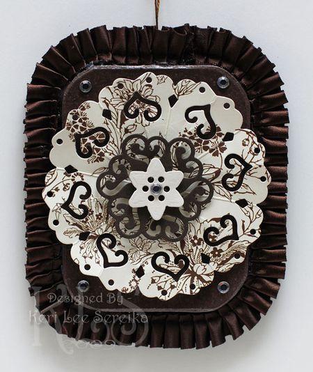 Final Project - Victorian Christmas Ornament - Contemporary Hearts Pendant - Keri Lee Sereika