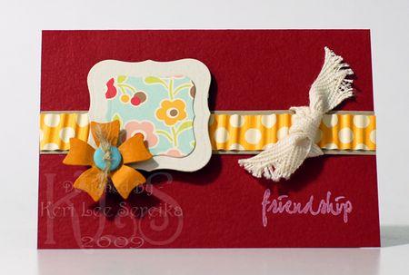 8-7-09 Friendship Mini Card - Keri Lee Sereika