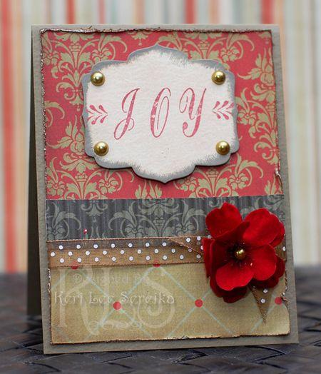 9-17-09 JustRite Stampers - Joy card - Keri Lee Sereika