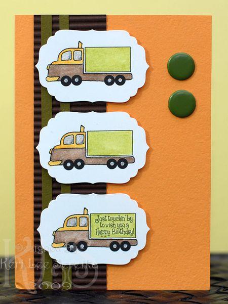 9-9-09 CPS132 Just Truckin' By card - Keri Lee Sereika