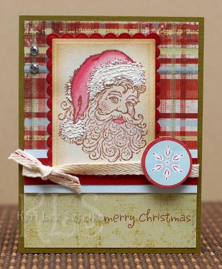 11-5-09 Merry Christmas Santa card - Keri Lee Sereika