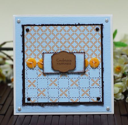 2-6-10 CPS153 Embrace Happiness Card - Keri Lee Sereika