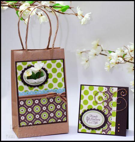 2-13-10 Friends are Flowers Gift Bag & Card - Keri Lee Sereika