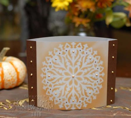 11-12-10 Fast Friday #1 - Autumn Votive Cover - Keri Lee Sereika