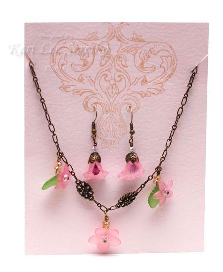 2-7-11 Floral Fun Necklace & Earring Set Presented - Keri Lee Sereika