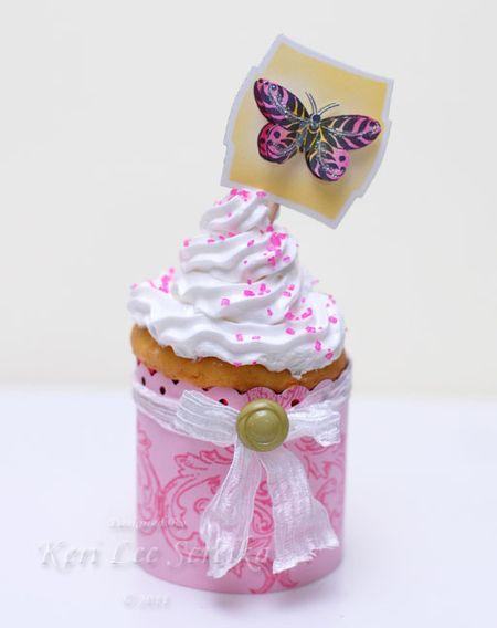 2-18-11 LOC Cake Deco Party - Stamped Cupcake Wrap and Cupcake Pic - Keri Lee Sereika
