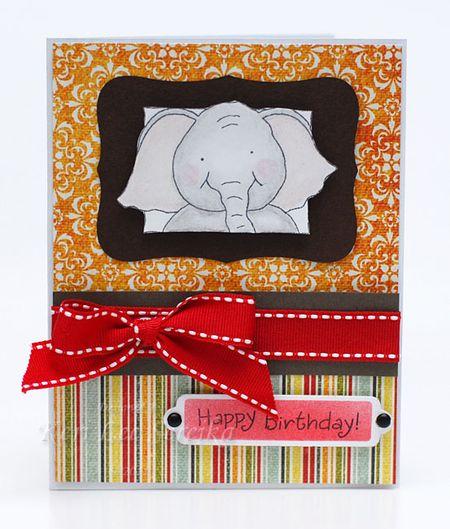 3-3-11 Honey Pop Birthday Card - Keri Lee Sereika