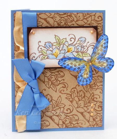 1-25-11 Blue and Brown Butterflies - Keri Lee Sereika
