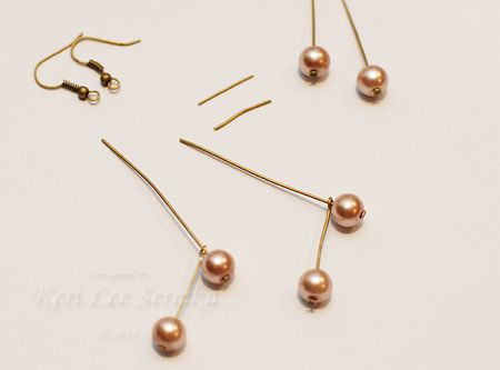06 - Thread Next Set of Headpins Through Loop at Top of Headpins - Keri Lee Sereika