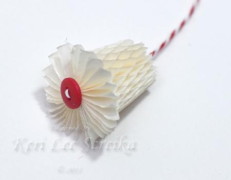 9-27-11 Honey Comb Paper Ornament 08 - Keri Lee Sereika