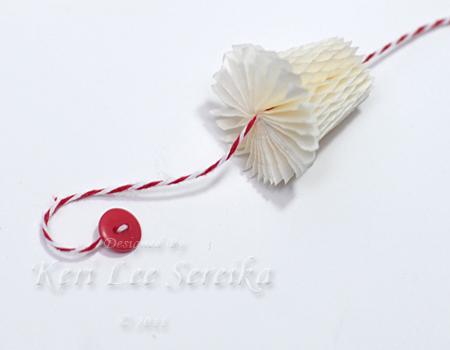 9-27-11 Honey Comb Paper Ornament 07 - Keri Lee Sereika