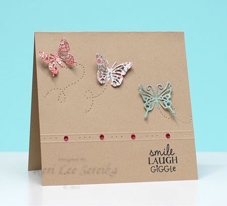 9-29-11 OJS Blog Hop Card - Smile Laugh Giggle - Keri Lee Sereika