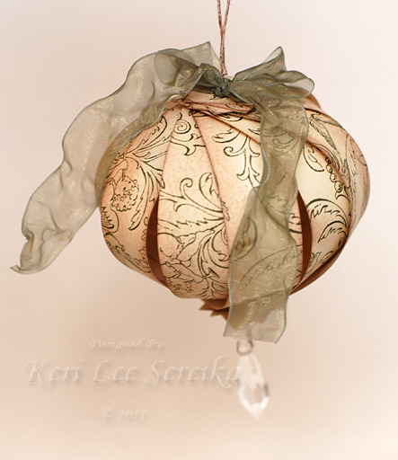 10-25-11 LOC Paper Ornament - Very Vintage Sphere - Keri Lee Sereika