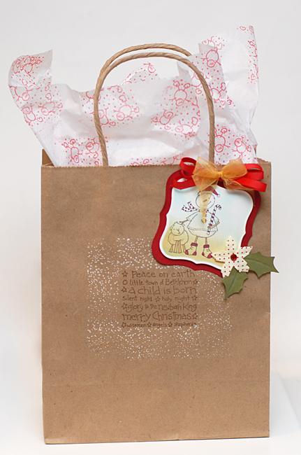 12-7-11 Inky Gift Bag & Tag - Keri Lee Sereika