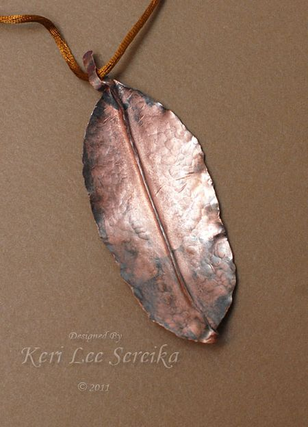 2-10-12 First Form Folded Piece After Patina - Keri Lee Sereika