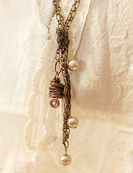 4-4-12 Connie Crystal - Vintage Charm Necklace - Keri Lee Sereika