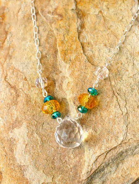 4-30-12 Connie Crystal May - Citrus Sparkle Necklace - Keri Lee Sereika