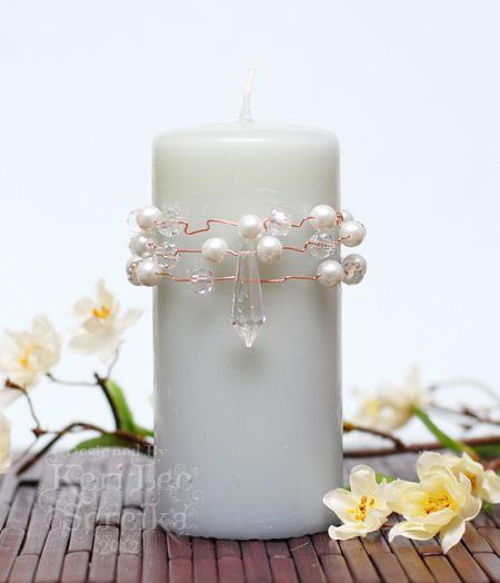 7-10-12 Connie Crystal - Crystal & Pearls Candle Wrap - Keri Lee Sereika