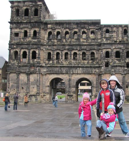 2-8-13 The Kids in front of Porta Nigra WEB