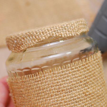 06b - Using small sharp scissors trim away the excess unglued burlap - Keri Lee Sereika