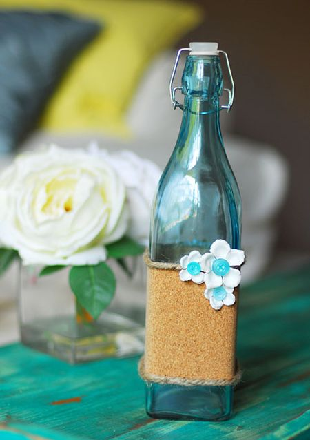 Cork Embellished Bottle - Keri Lee Sereika