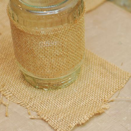 03 - Place upside down onto scrap of burlap - Keri Lee Sereika