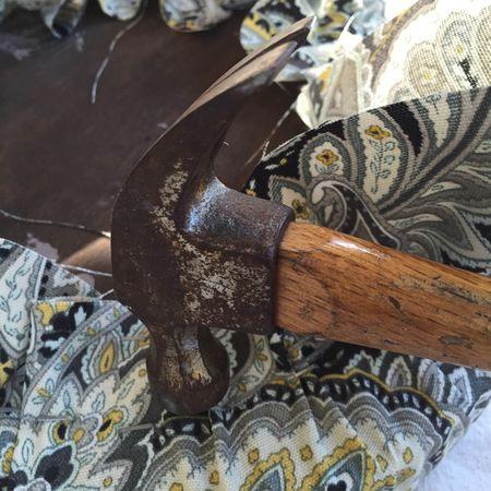 Hammer staples down